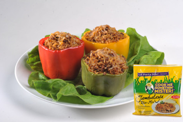 FEATURED RECIPE: Cook Me Somethin' Mister Jambalaya Stuffed Bell Peppers