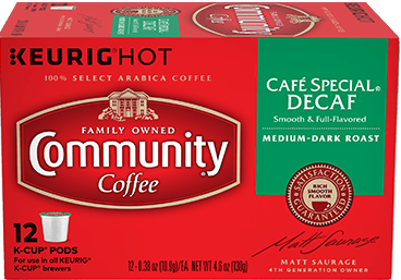 Community Coffee K Cup Cafe Special Decaf