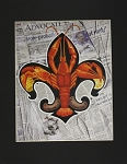 Crawfish and Newspaper Print by Alla Baltas 11x14