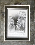 French Quarter Nights Black & White by Don Davey 8.75x10.5