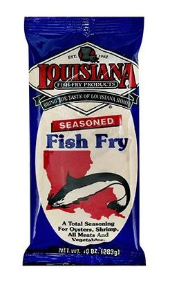 Louisiana fish fry seasoned seafood breading mix 10oz for Fish fry mix