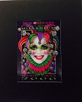 New Orleans Ring in the New Millenium Mardi Gras 2000 print by Andrea Mistretta 8.75x10.5