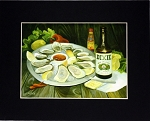 Oysters and Beer print by Alla Baltas 8x10