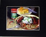 Red Beans and Rice Print by Alla Baltas 8x10