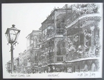 Royal Street New Orleans Black & White by Don Davey 8.75x10.5