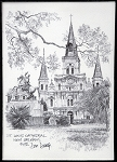 St. Louis Cathedral Black & White by Don Davey