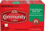Community Coffee: K-Cup Cafe' Special Decaf