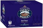 French Market Coffee Restaurant Blend: Single Serve K-Cups 12ct (Dark Blue Box)