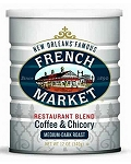 French Market Coffee & Chicory, Restaurant Blend, 12 oz. Cans