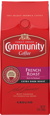 Community Coffee: Ground French Roast 12oz