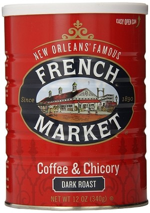 French Market Coffee and Chicory Dark Roast (City Roast), 12oz