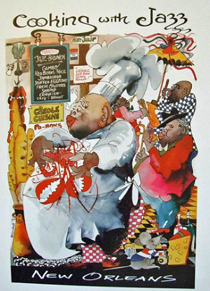 Cooking with Jazz Print by Meiersdorff 13x16""