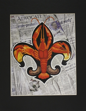 Crawfish and Newspaper Print by Alla Baltas 11x14""