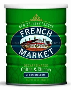 French Market Coffee and Chicory Decaf Can, 12 oz.
