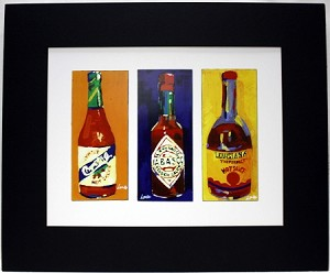 Hot Sauce Print by Chris Long 13.25x16""