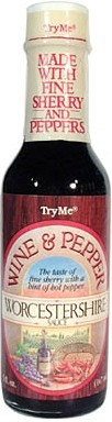 Try Me Wine and Pepper Worcestershire Sauce, 5oz